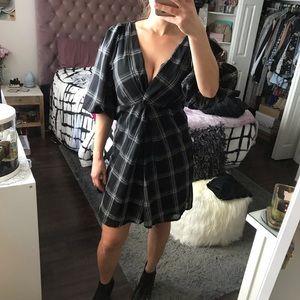 NEW Free People Black Poof Dress